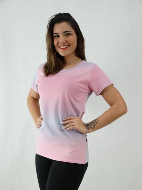 T-Shirt Tie Dye Viscolycra Rosa Claro e Lilás [2008071]