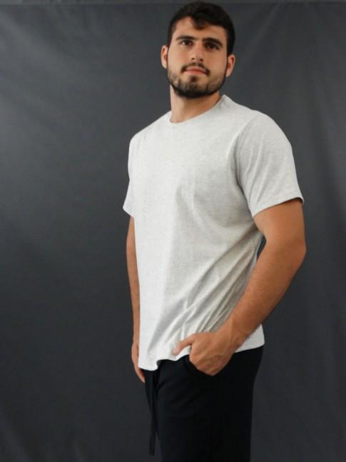 T-Shirt Masculina Basic Cinza [2010177]