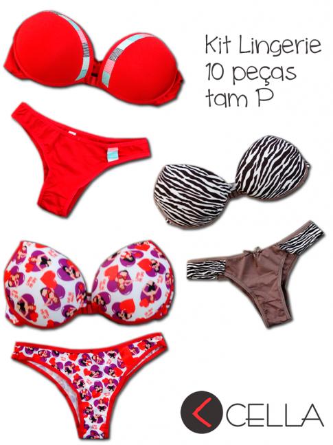 Kit Lingerie promoção 10 peças Tam P