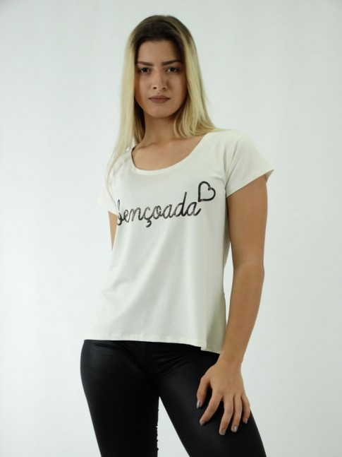 T-shirt em Viscolycra Mullet  AC