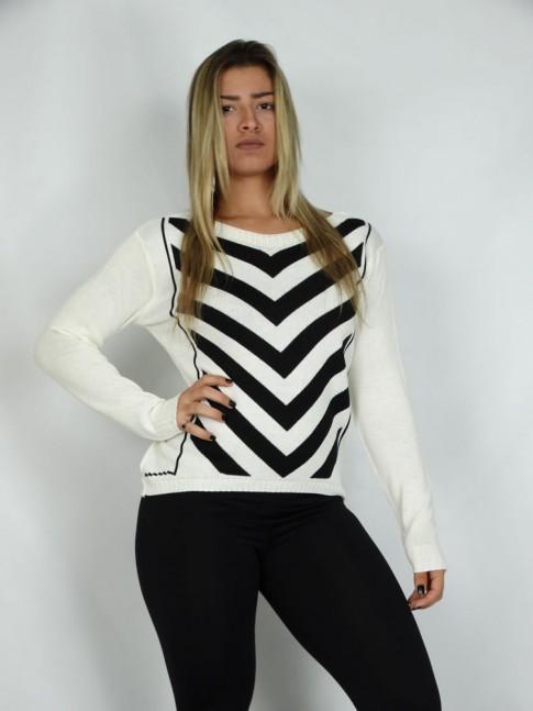 200-Blusa em tricot com listras