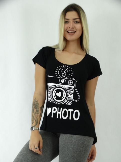 T-shirt em Viscolycra Mullet  CF