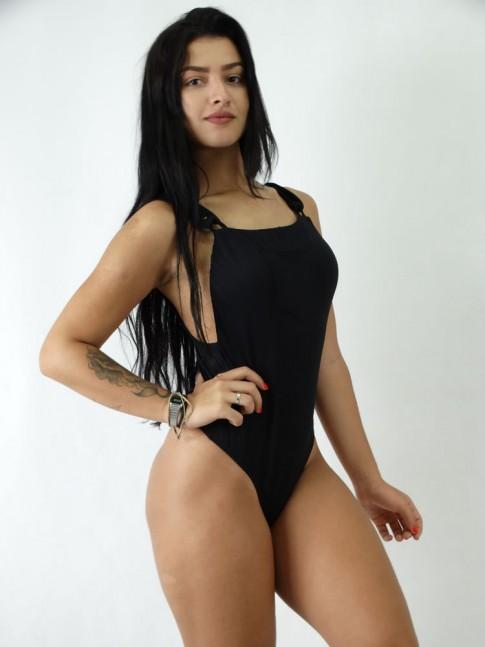 Body em Meryl estilo Suspensorio Liso