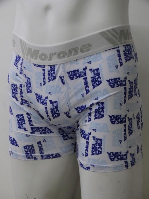 Cueca Boxer Estampada Banco Azul Com Elastico de Cor Sortida [1910182]
