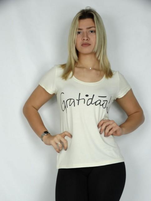 T-shirt em Viscolycra Gratidão