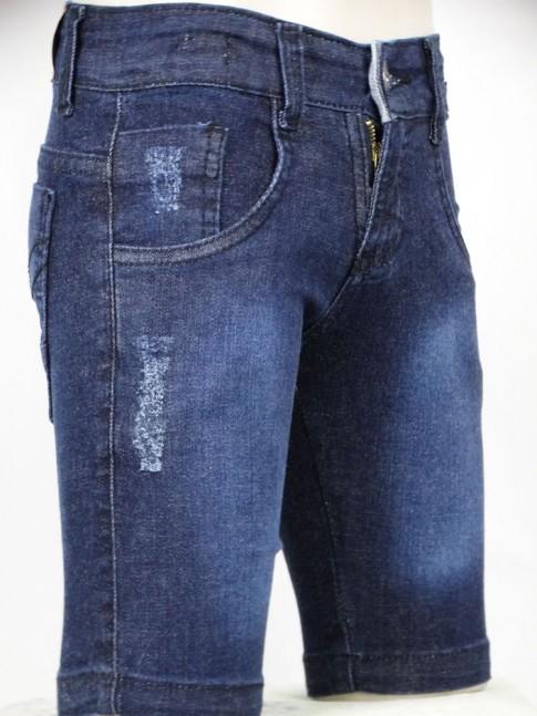 311 - Bermuda masculina Infantil em jeans c/Stretch