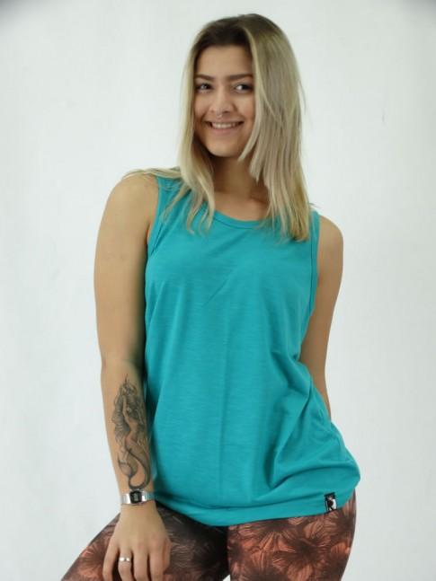 Camiseta Regata Unisex em Flame Visco Faille