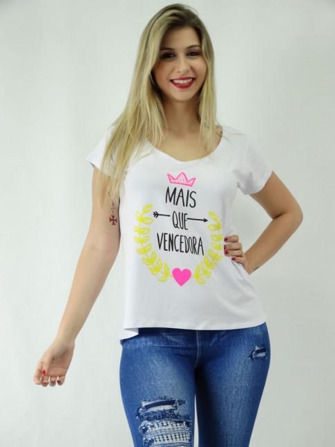 T-shirt em Viscolycra Estilo Mullet Mais Que Vencedora [1810171]