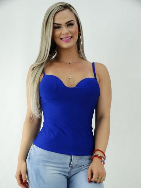 Blusa de Alca Basica em Suplex Azul Caneta [2001124]