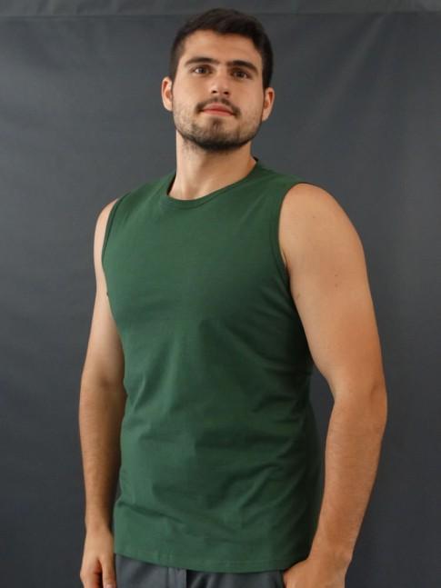 Camiseta Masculina Regata Machão Basic Verde [2010040]