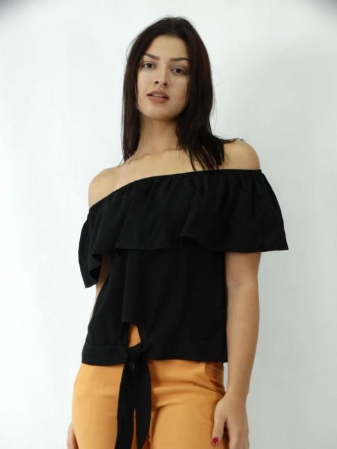 Blusa Ciganinha em Viscose com Amarração