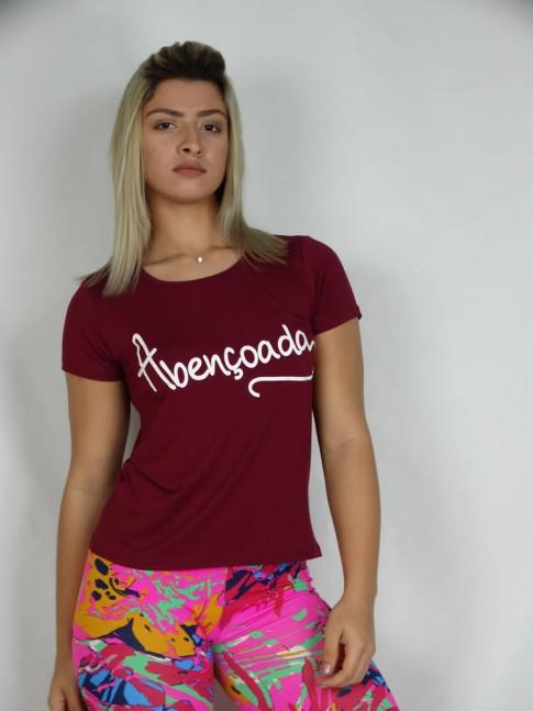 T-shirt em ViscolAbencoada