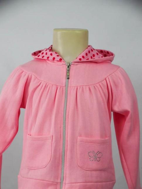 Moletom infantil com capuz estampado rosa claro