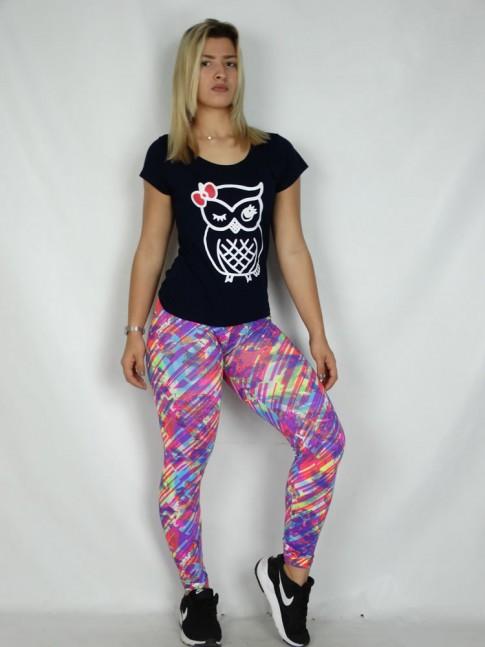 Calça Legging em Suplex Rosa Print