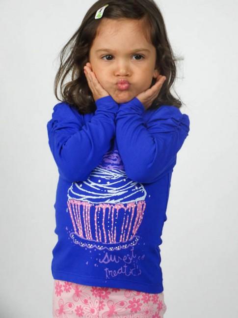 Blusa infantil estampa cupcake