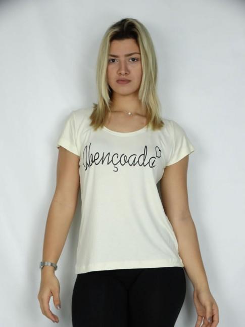 T-shirt em Viscolycra Abencoada Coracao