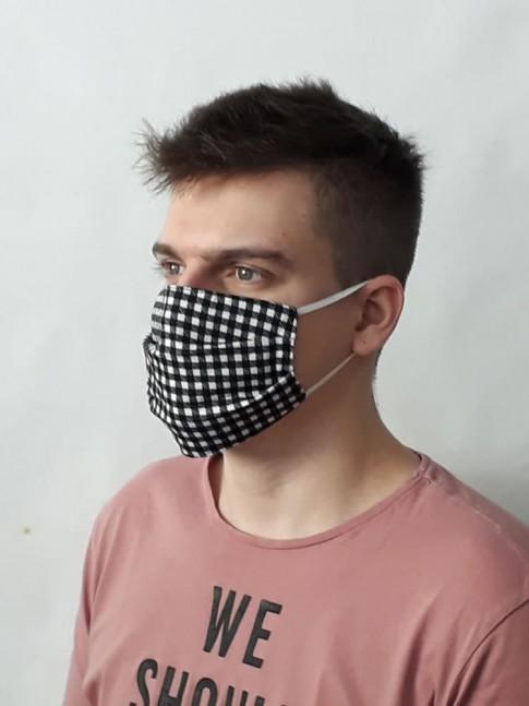 Kit com 5 Mascaras de Proteção em Estampas e Cores Sortidas Retangular [2004002]