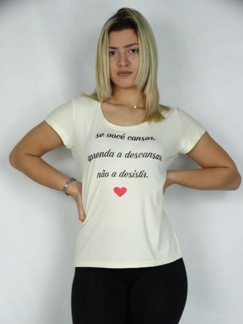 T-shirt em Viscolycra Nao Desista