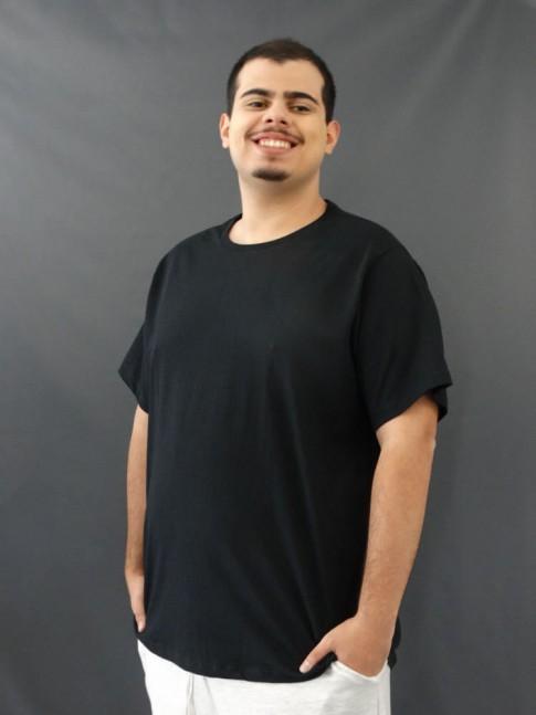 T-Shirt Masculina Basci Plus size Preto [2010180]