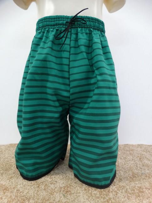 Bermuda Infantil em Microfibra Verde Listras [1901286]