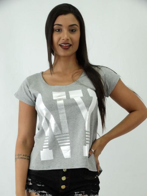 T-shirt em Viscolycra estilo Mullet Nova York NY