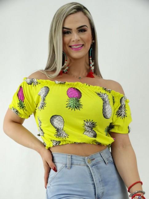 Blusa Ciganinha em Viscolycra Amarelo Abacaxi [2001255]