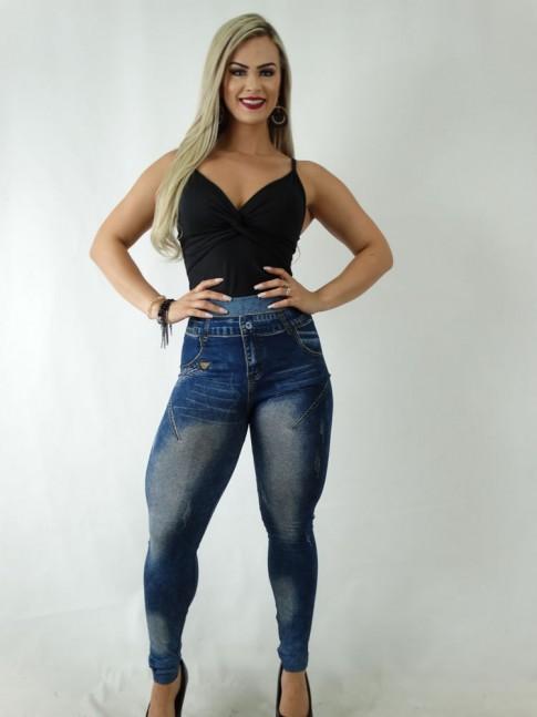 Calça Legging Jeans Fake Azul [1904089]