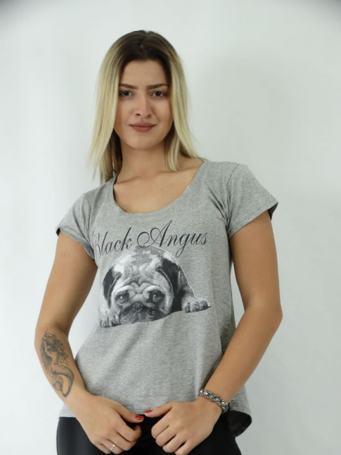 T-shirt Mullet em Viscolycra Black Dog