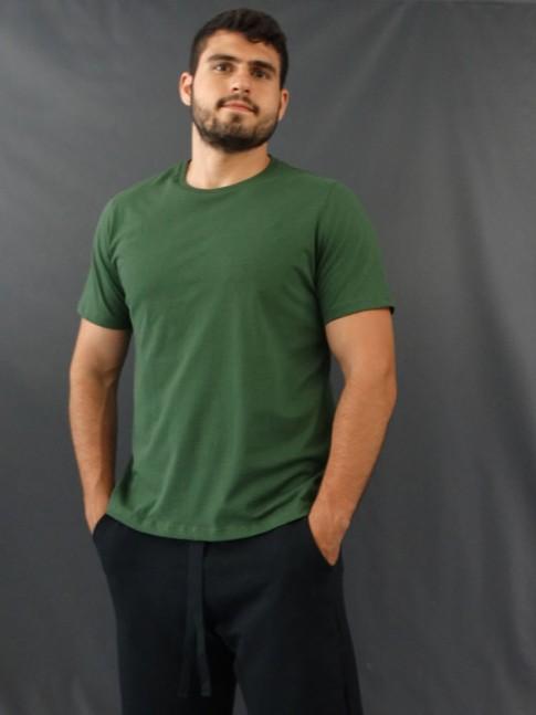 T-Shirt Masculina Basic Verde [2010178]
