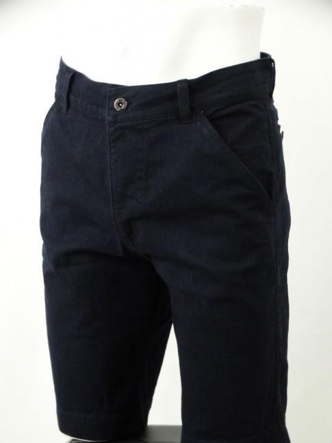 Bermuda Jeans Masculina com Stretch Azul Escuro [1812144]