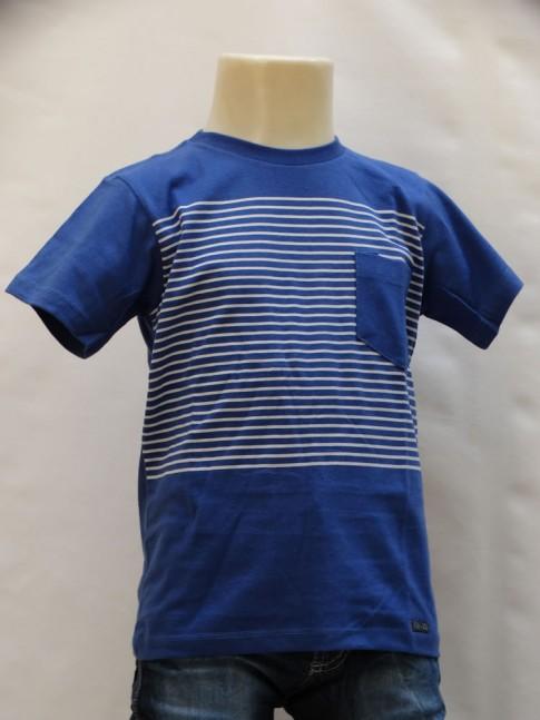 311 - T-shirt Infantil em Malha Listrada com Bolso