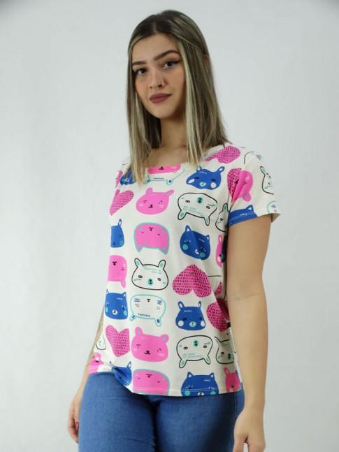T-shirt Viscolycra Animais Colors [2003103]