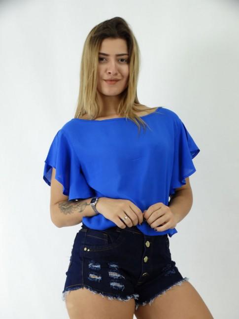 Blusa em Viscolycra estilo Morcego e Balone Lisa