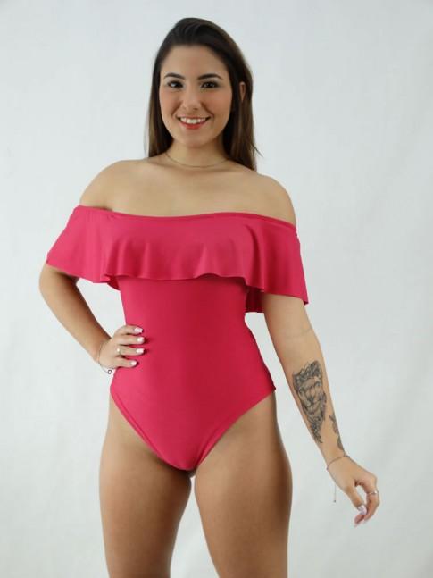 Body Ciganinha Rosa Pink em Suplex [2008056]