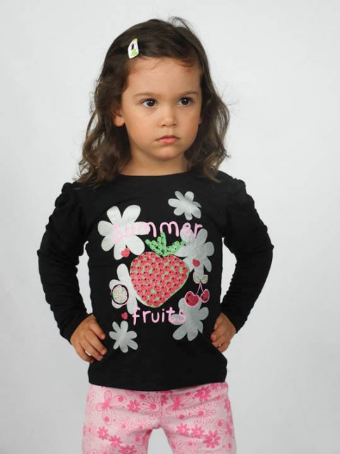 Blusa infantil estampa summer fruits