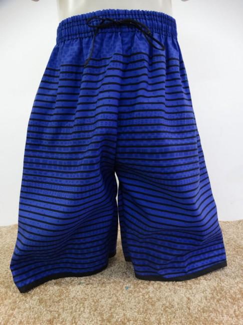 Bermuda Infantil em Microfibra Azul Caneta Listras Quadrados [1901300]