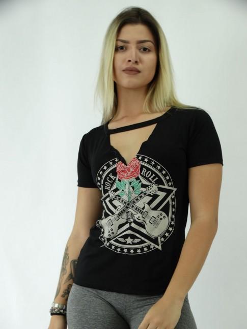 T-shirt em Viscolycra RecorteV