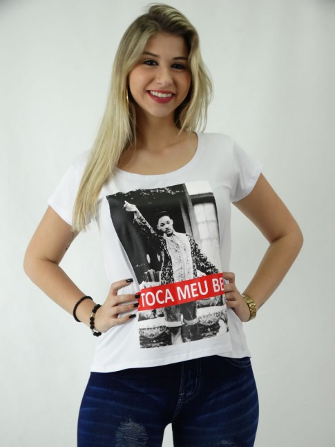 8998f790c T-shirt em Viscolycra Estilo Mullet Se Toca Meu Bem  1809119  - Moda ...
