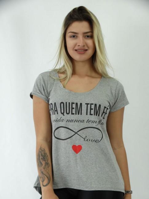 T-shirt Mullet em Viscolycra Pra Quem Tem Fé