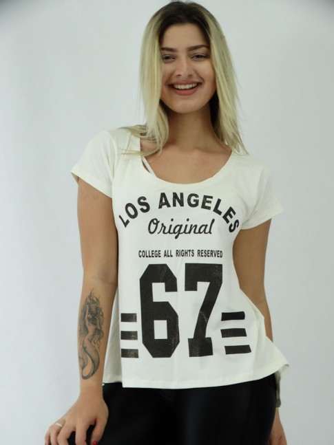 T-shirt Mullet em Viscolycra Lisa Numeros