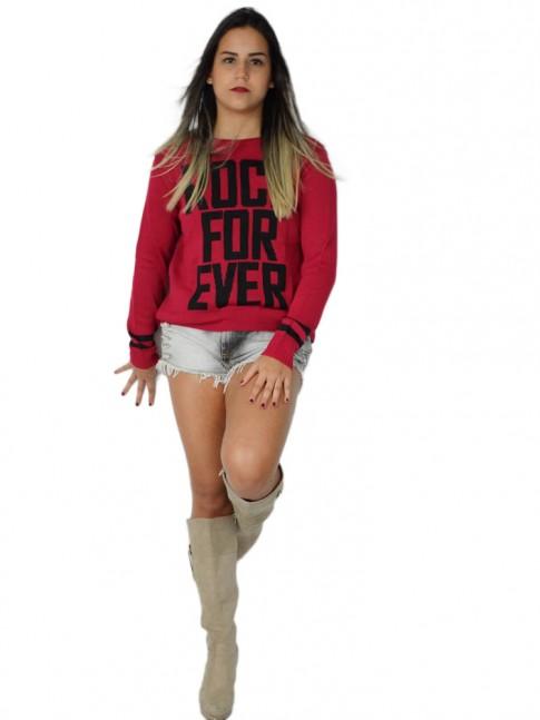 200-Blusa em tricot estampa rock for ever