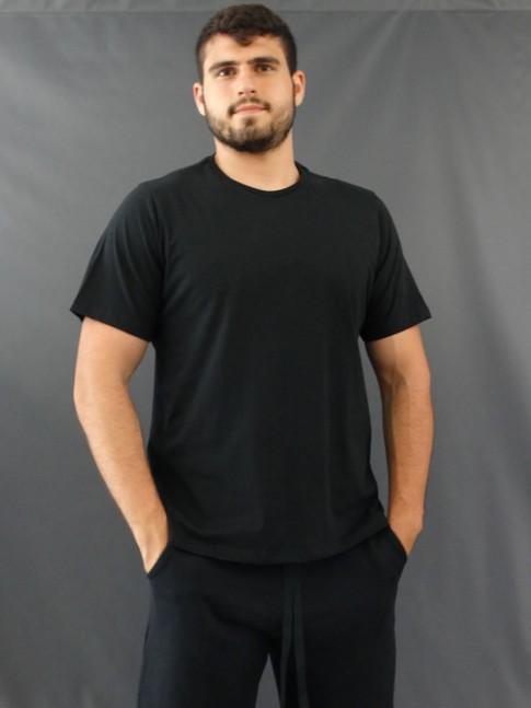 T-Shirt Masculina Basic Preto [2010176]