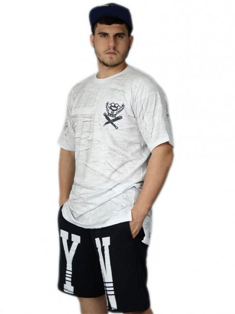 312 - Camiseta Swag Longa Manchada