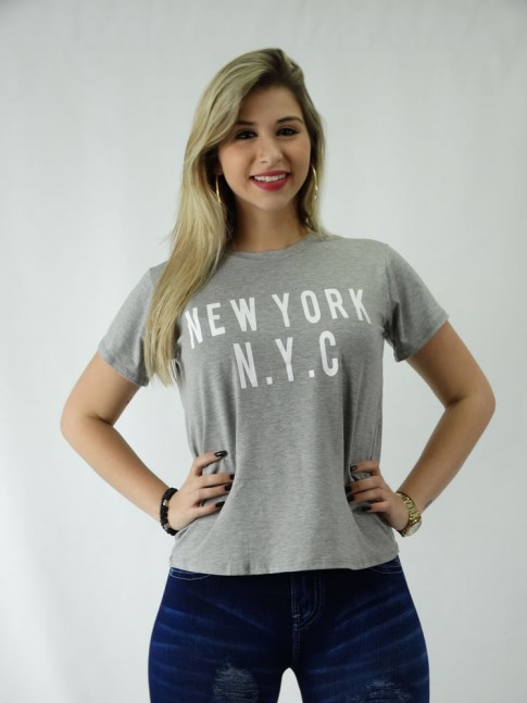 c5891236e T-shirt em Viscolycra Estilo Mullet N.Y.C  1809117  - Moda Na Web ...