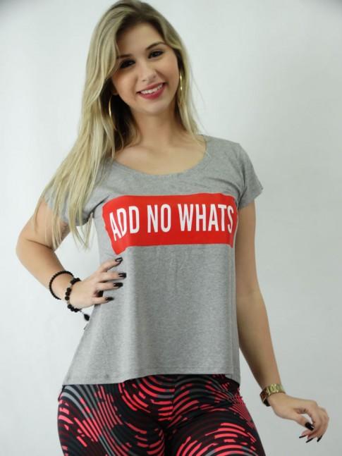 T-shirt em Viscolycra Estilo Mullet Add no Whats [1809121]