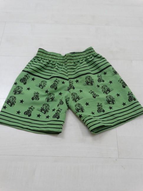 Short Infantil em Microfibra Verde Abacate Bichinhos [1812108]