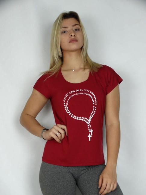 T-shirt em Viscolycra Terco com Fé