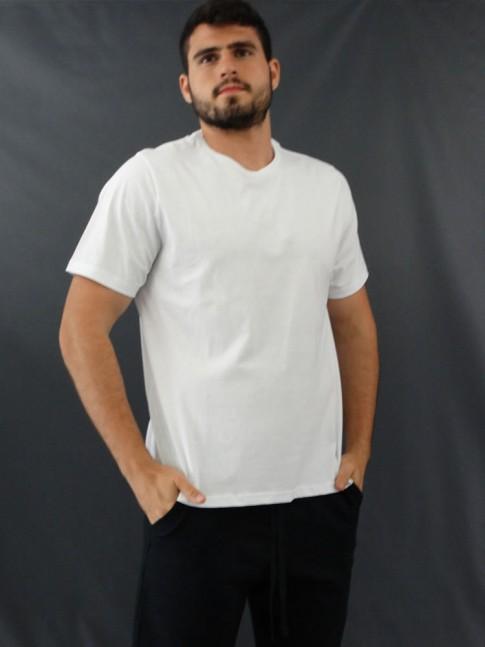 T-Shirt Masculina Basic Branco [2010179]