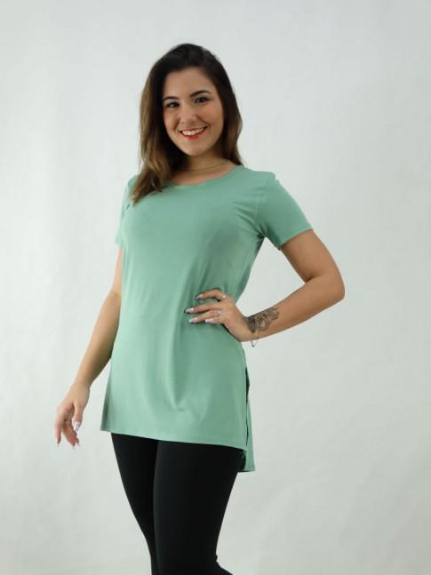T-Shirt Estilo Mullet em Viscolycra Verde [2008064]