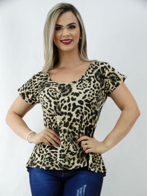 T-Shirt em Viscolycra Mulet Leopardo [2003115]
